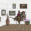 digital exhibition _ It climbed up giraffe by Pemaro