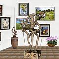 Digital Exhibition _ Modern  Statue   Of Dancing Girl by Pemaro