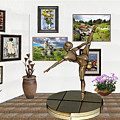 digital exhibition _ Statue of girl acrobat 35 by Pemaro