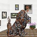 digital exhibition _Modern Statue of scrap by Pemaro