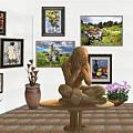 digital exhibition _Statue 5 of posing girl 221 by Pemaro