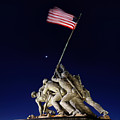 Digital Liquid - Iwo Jima Memorial At Dusk by Metro DC Photography