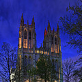 Digital Liquid - Washington National Cathedral After Sunset by Metro DC Photography
