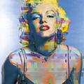 Digital Marilyn Monroe  by Tony Rubino