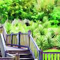 Digital Paint Landscape Jefferson Island  by Chuck Kuhn