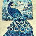 Digital Peacock 1 by Megan Walsh