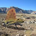 Dimetrodon In The Desert by Frank Wilson