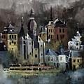 Dinant Watercolor by Pol Ledent