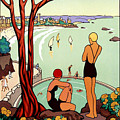 Dinard, French Riviera, Two Swimmers  by Long Shot