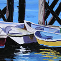 Dinghies At The Dock by Alison Vernon