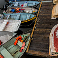 Dinghies At Town Wharf by David Stone