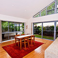 Dining Room With Slanted Ceiling by Darren Burton