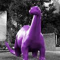 Dino Selective Coloring In Ultra Violet Purple Photography By Colleen by Colleen Cornelius