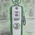 Dino Sinclair Gas Pump by Kathy Marrs Chandler