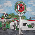 Dino Sinclair Gas Station by Kathy Marrs Chandler