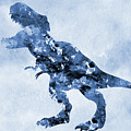 Dinosaur Rex-blue by Erzebet S