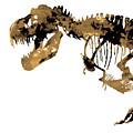 Dinosaur Sepia Print by Del Art