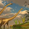 Diplodocus Dinosaur Romance by Corey Ford