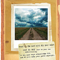 Dirt Road With Scripture Verse by Jill Battaglia