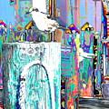 Disco Dock Seagull by Expressionistart studio Priscilla Batzell