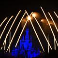 Disney Castle Fireworks by Dick Hudson