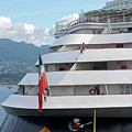 Disney Wonder In Vancouver by Connie Fox
