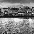 Disney World Boardwalk Gazebo Panorama Bw by Thomas Woolworth