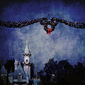 Disneyland Castle At Christmas Time by Dorothy Lee