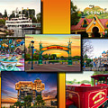 Disneyland Collage 02 Yellow by Thomas Woolworth