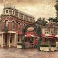 Disneyland Corner Cafe Pa Textured by Thomas Woolworth