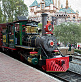 Disneyland Railroad Engine 3 With Castle by Thomas Woolworth
