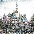 Disneyland Sleeping Beauty Castle Pa by Thomas Woolworth