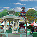 Disneyland Toontown Young Man Proposing To His Lady Panorama by Thomas Woolworth