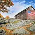 Display Of Colors - Roxbury Barn  by T-S Fine Art Landscape Photography