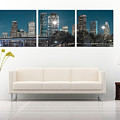Display Only - Houston Texas Skyline Panorama At Night - Panoramic Panels Series by Gregory Ballos