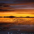 Distant Hills At Sunset by James Brunker