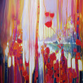 Distant Memory - A Semi Abstract Landscape by Gill Bustamante