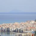 Distant View Of Cefalu Sicily by Richard Rosenshein