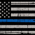 Distressed Thin Blue Line by Police