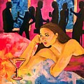 Ditched, Nightclub Bar Painting by Jevie Stegner