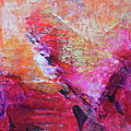 Divine Heart Abstract Orange Pink Heart Painting 8x10 Original Contemporary Modern Painting by Belinda Capol