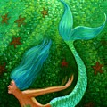 Diving Mermaid Fantasy Art by Sue Halstenberg