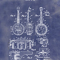 Dixie Banjolele Patent 1954 In Grunge Blue by Bill Cannon