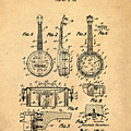 Dixie Banjolele Patent 1954 In Sepia by Bill Cannon