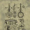 Dixie Banjolele Patent 1954 In Weathered by Bill Cannon