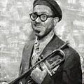 Dizzy Gillespie Vintage Jazz Musician by Mary Bassett