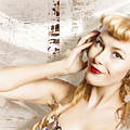 Dj Glamour Pin-up by Jorgo Photography - Wall Art Gallery