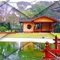 Djg-0004 Pavilion View Of Teahouse by Digital Oil