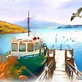 Do-00095 Boat Near Rotorua by Digital Oil