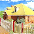 Do-00142 House And Fence by Digital Oil